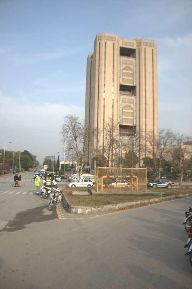 Back side of Saudi Pak Tower, Entrance For Media Personnel only.