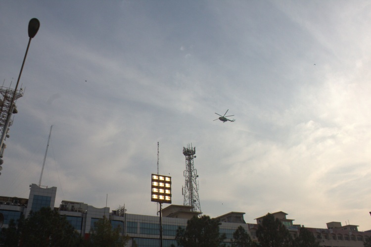 Chopper of Rangers on surveillance